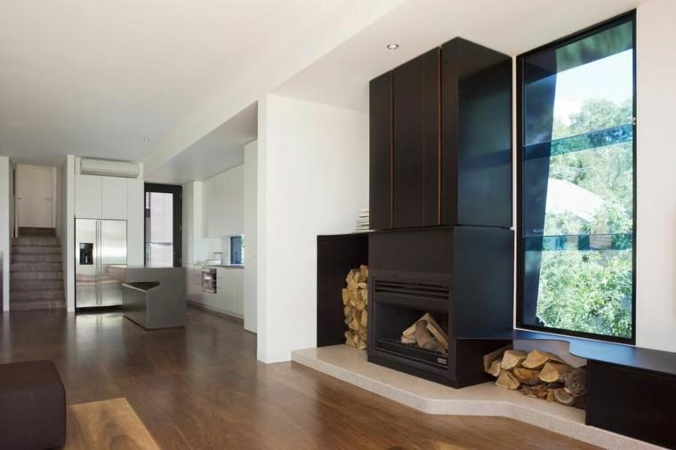leña ideas estetica forja moderna mueble