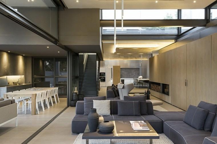 leña ideas estetica mobiliario gris
