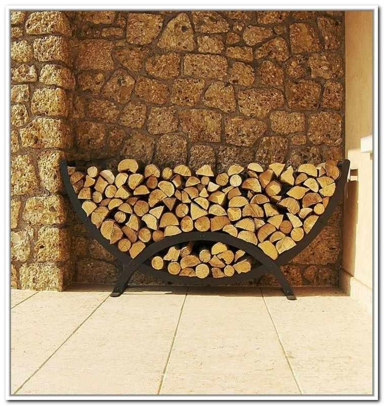 leña ideas soporte arqueado mueble