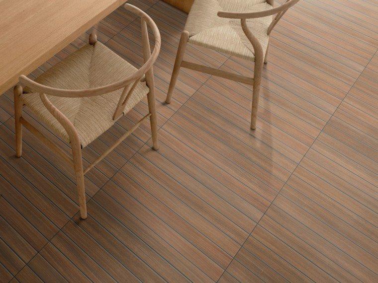 losas laminas madera suelo comedor moderno ideas