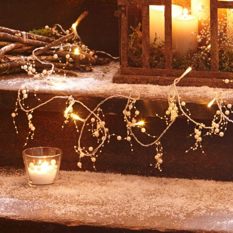 luces blancas preciosas ideas extrerior interior casa moderna ideas