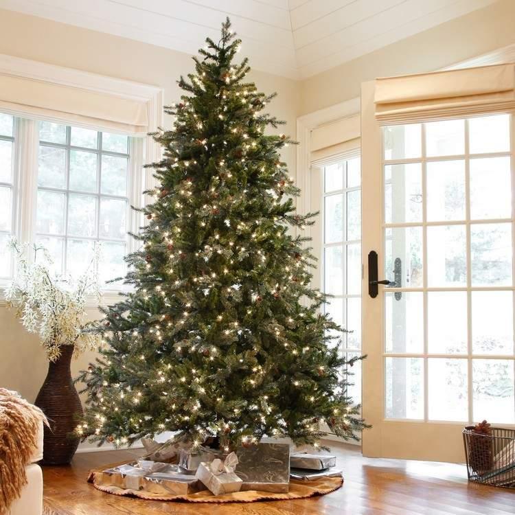 Luces de navidad 50 ideas festivas para decorar la casa - Luces arbol de navidad ...