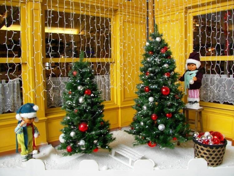 luces navidad ventanas arboles casa pequenos ideas