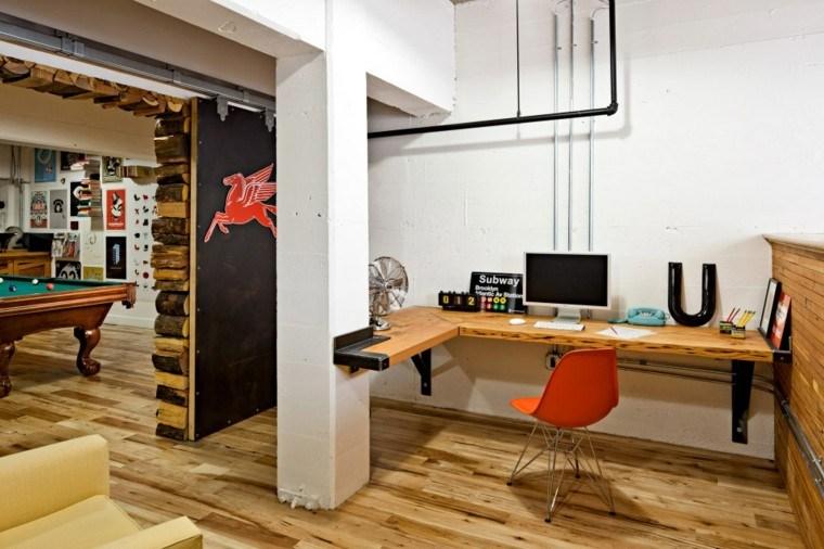 diseo lugar trabajo escritorio madera