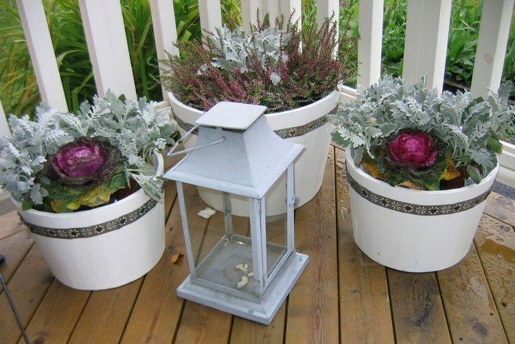 Ikea garden candlestick cabbage pots