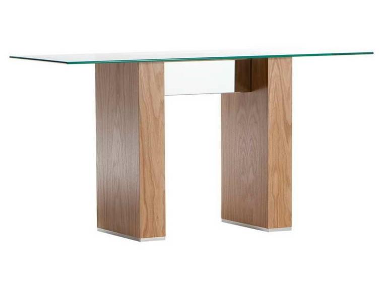 Consolas de vidrio redescubriendo su utilidad en el hogar for Diseno de mesa de madera con vidrio