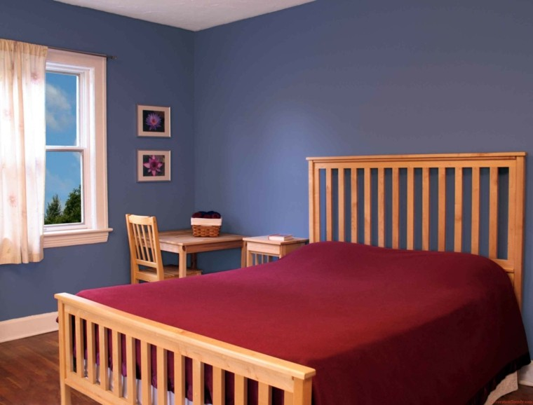 madera cama jarrones cristal blanco
