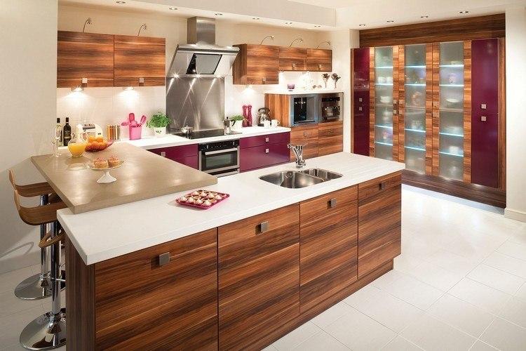 Decoracion de cocinas a todo color 78 ejemplos for Marmol color morado