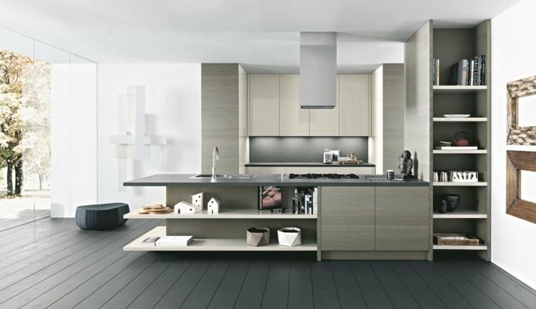 cocina madera laminada color beige