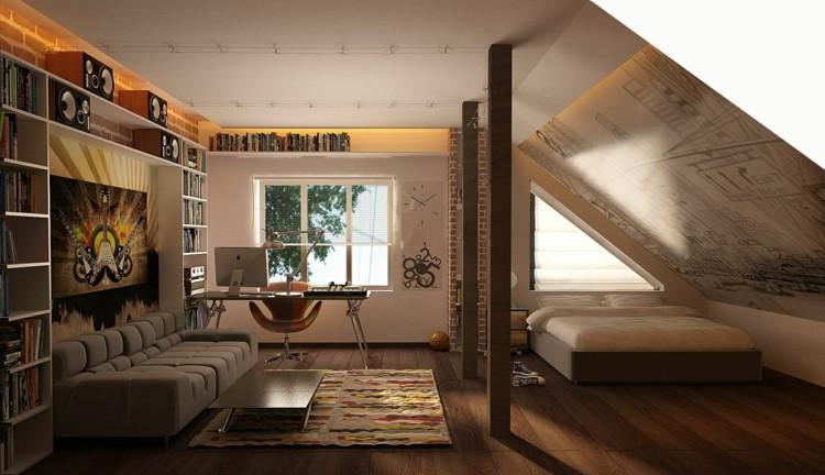 madera moderna fresca estilo marrones