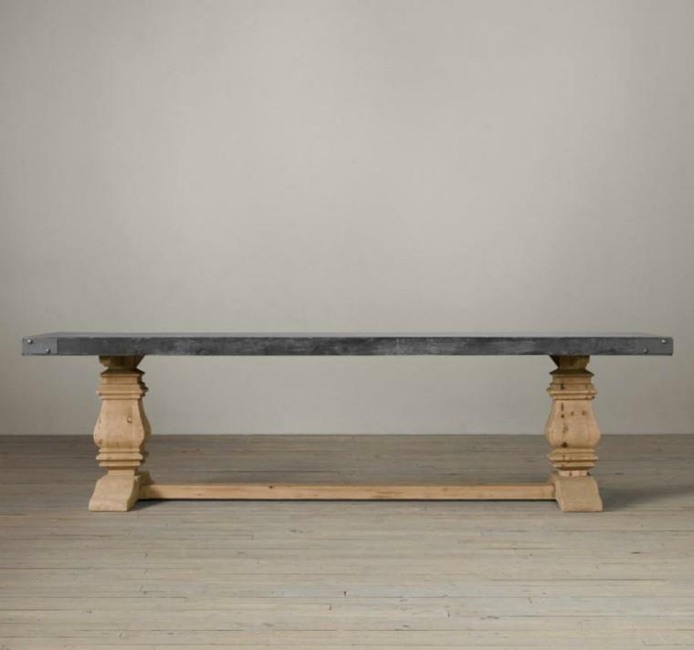madera paredes grises suelo baja