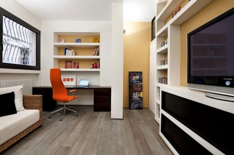 madera suelo naranja silla sillon