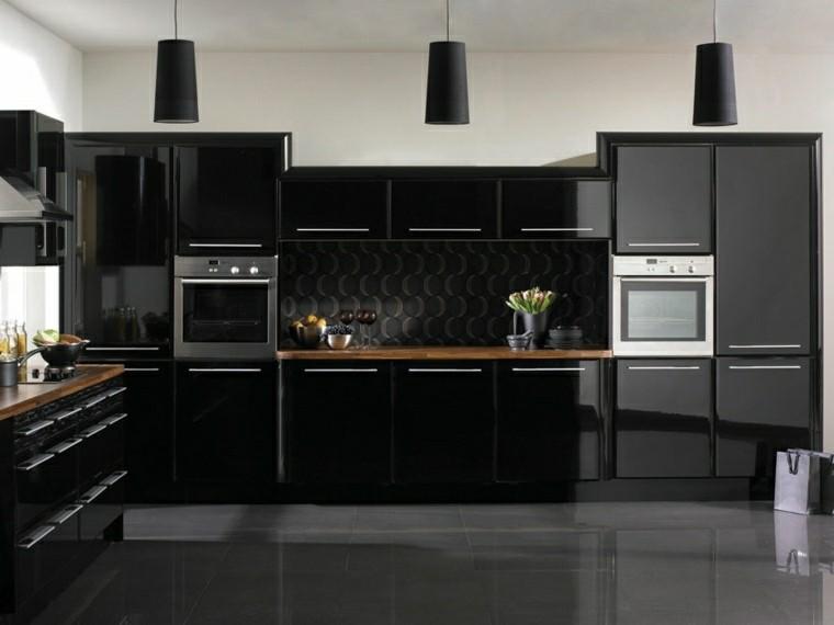 magia negra en la cocina 50 ideas de muebles en negro modern kitchen black and white kitchen kitchen design