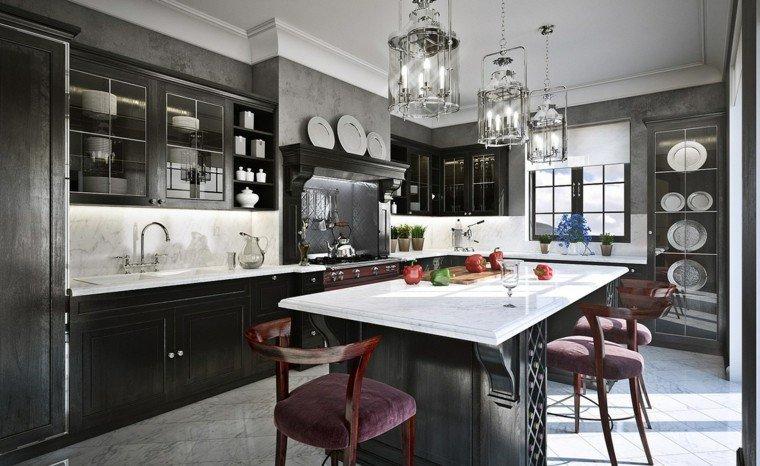 magia negra cocina muebles estilo clasico ideas