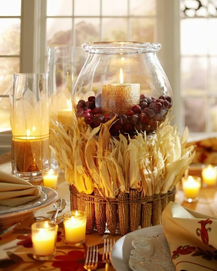 maiz decorado velas ventanas cristal