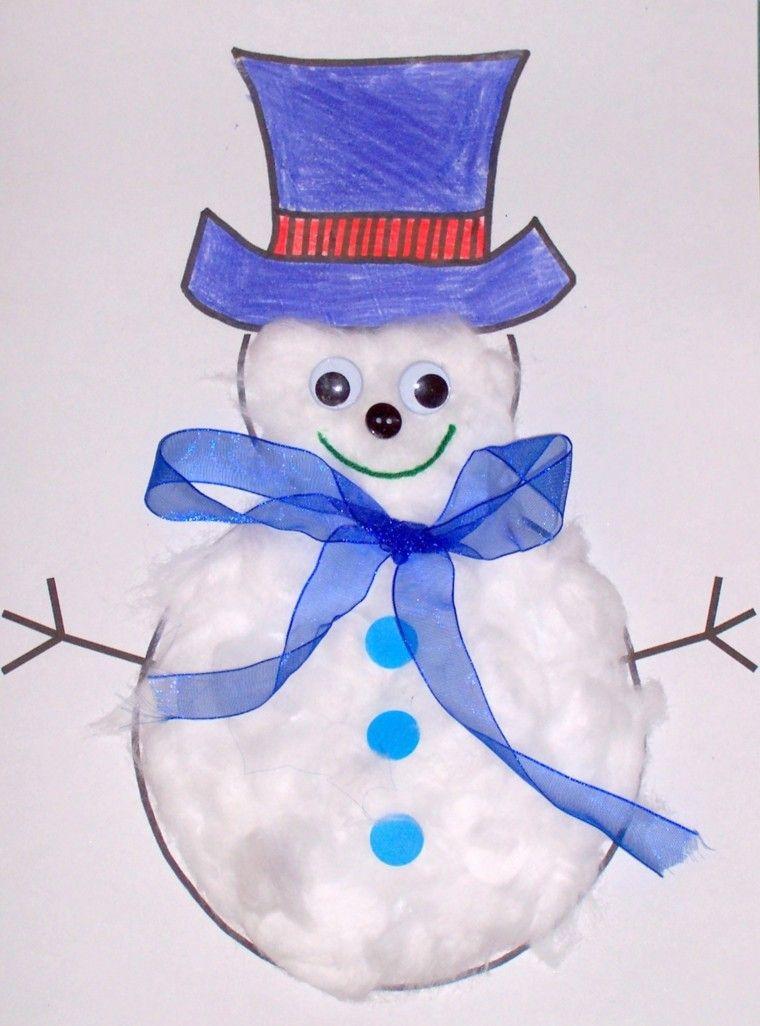 manualidades de navidad para niñosalgodon muñeco algodon