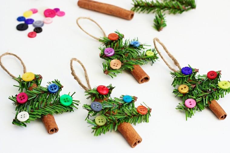 manualidades de navidad para niños canela colgantes