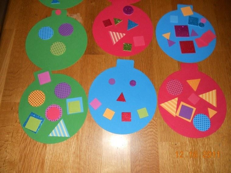 manualidades de navidad para niños colorida madera