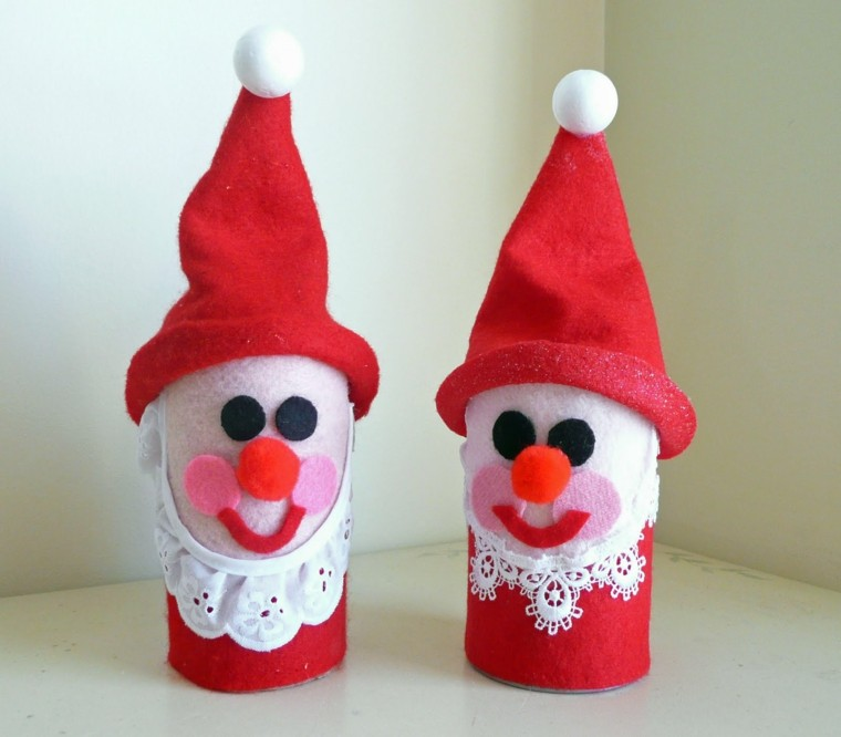 manualidades de navidad para niños enanos colores muñecos