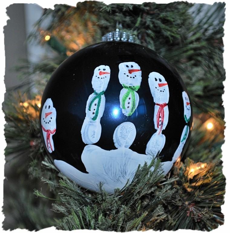 manualidades de navidad para niños esfera pintada bola