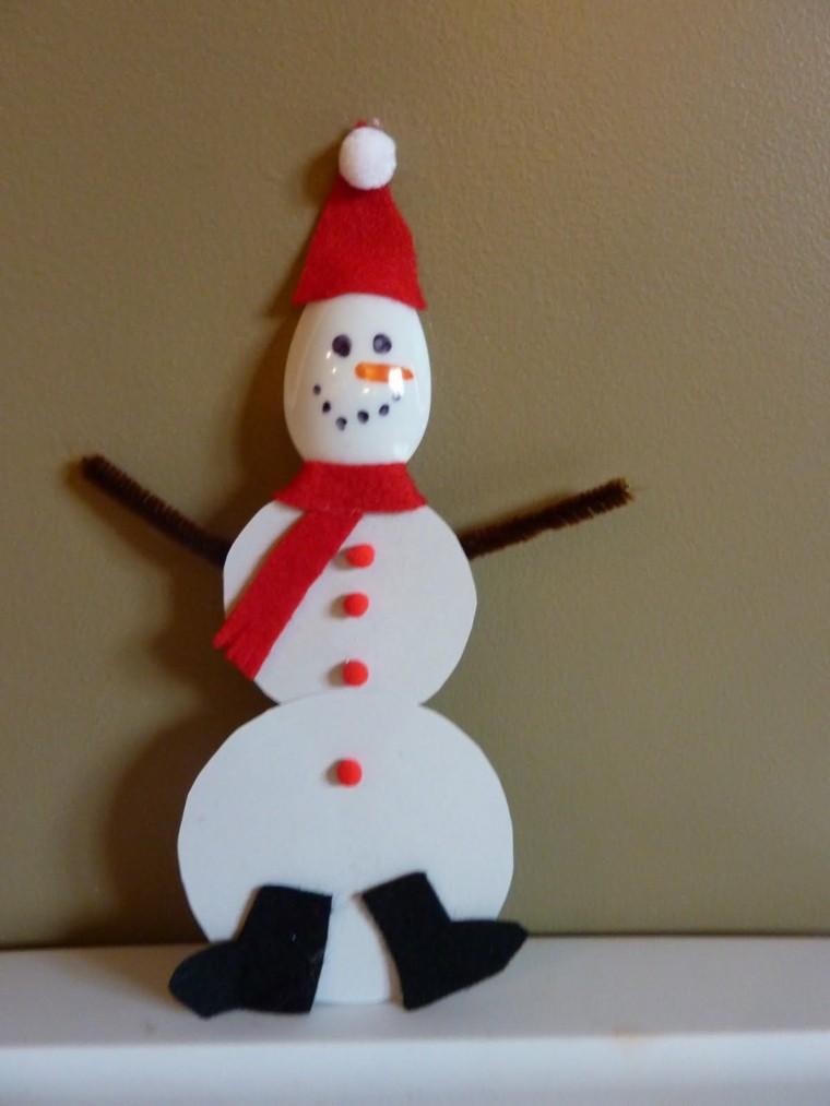 manualidades de navidad para niños muñeco nieve papel