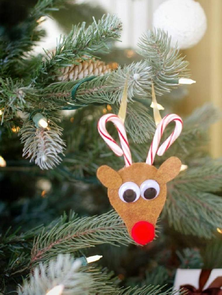 manualidades de navidad para niños reno colgante