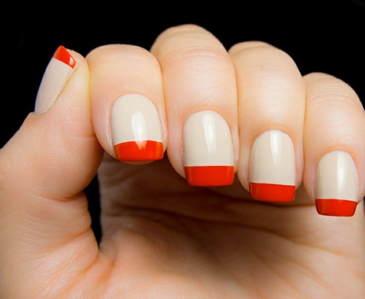 manicura francesa color rojo
