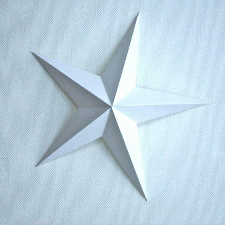 manualidades con papel blanco estrella blanca
