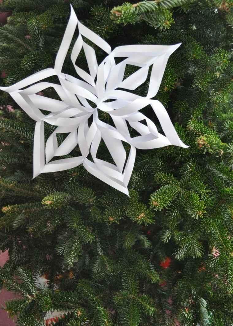 manualidades con papel faciles estrella arbol