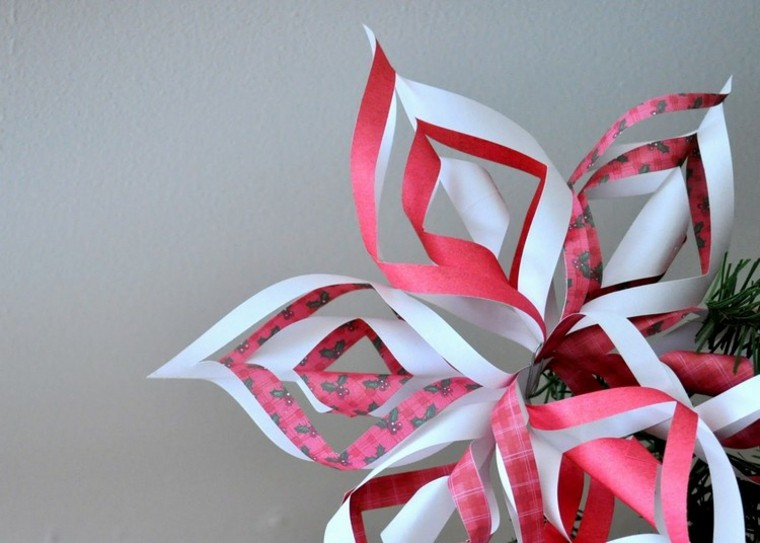 manualidades con papel faciles rojo arbol