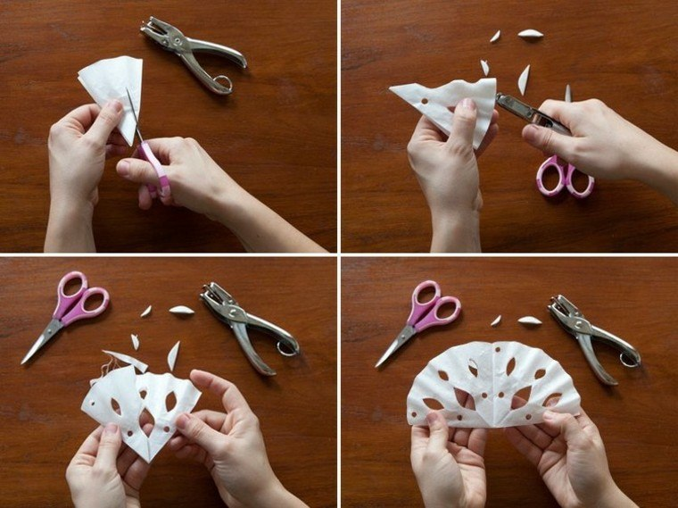 manualidades con papel tijeras corte abanico