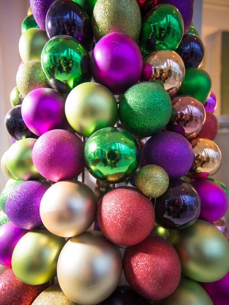 de navidad originales arbol hecho bolas ideas