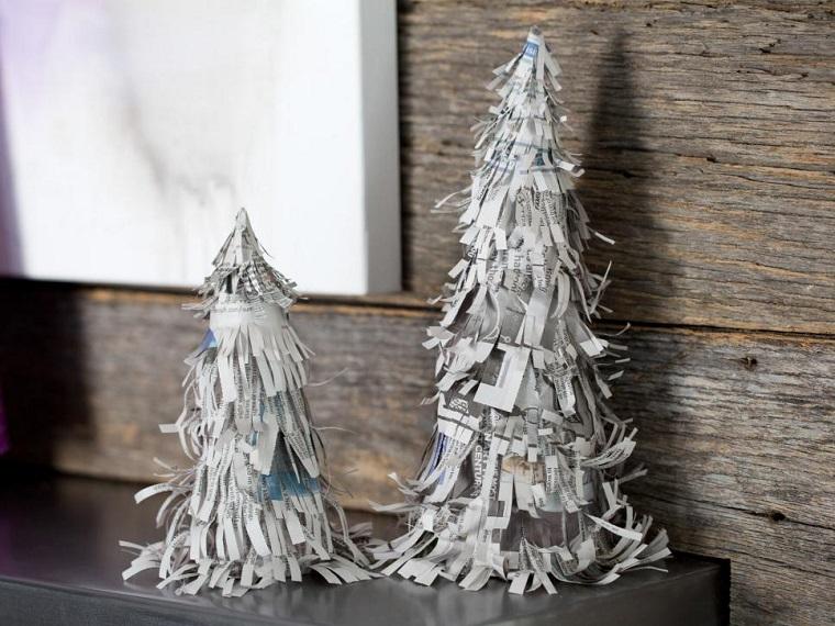 Manualidades de navidad 50 ideas para decorar - Como hacer un arbol de papel grande ...