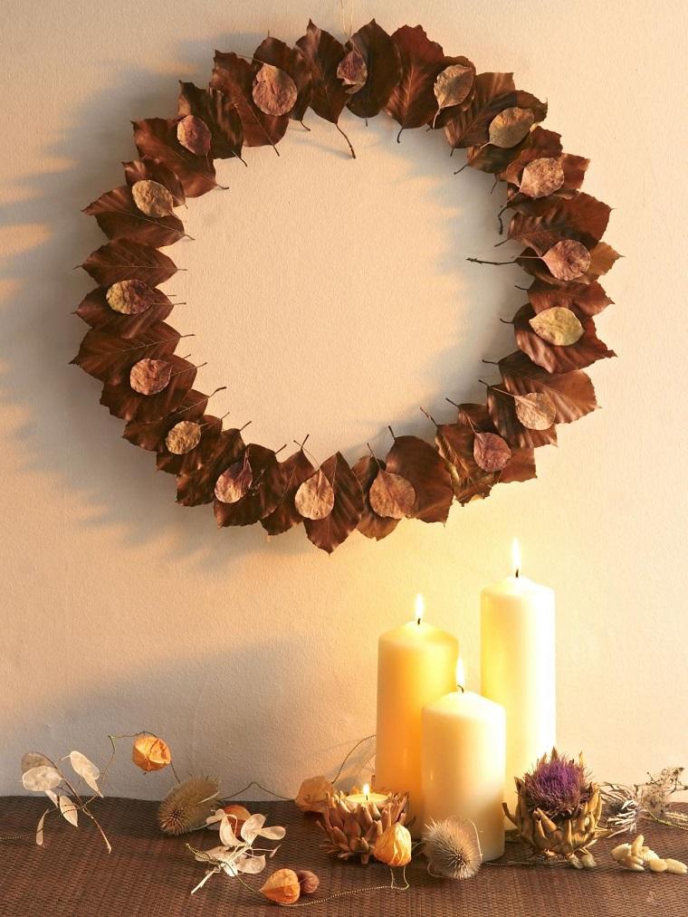 Manualidades de navidad 50 ideas para decorar for Decoracion con hojas secas
