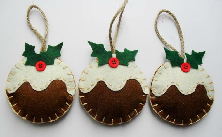 Manualidades de navidad cincuenta dise os sencillos - Artesanias con telas ...