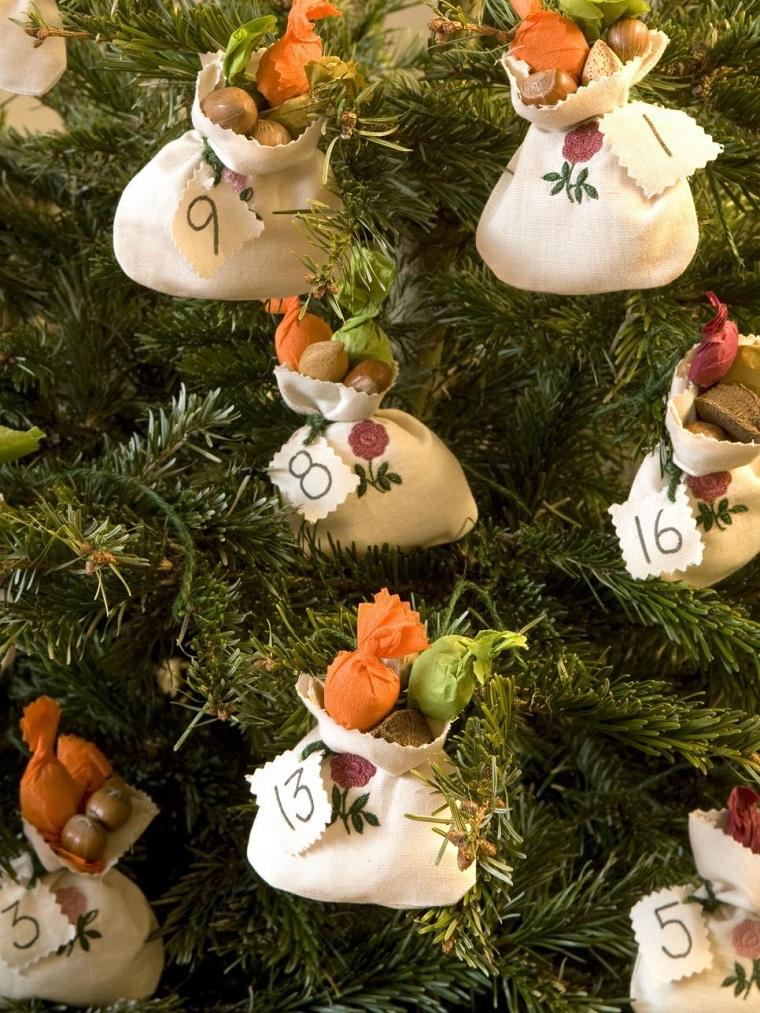 manualidades navidad originales bolsitas arbol ideas