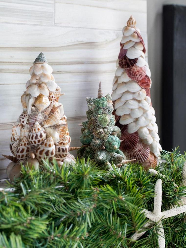 navidad originales conchas arbol navidad ideas