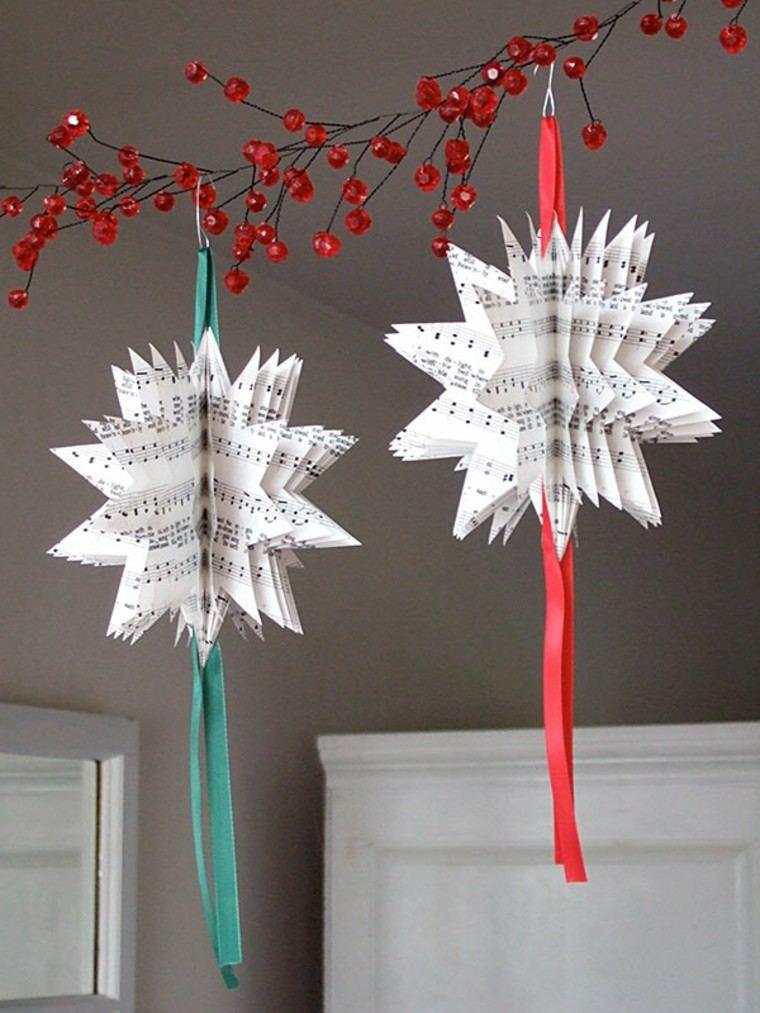 navidad originales estrellas papel ideas