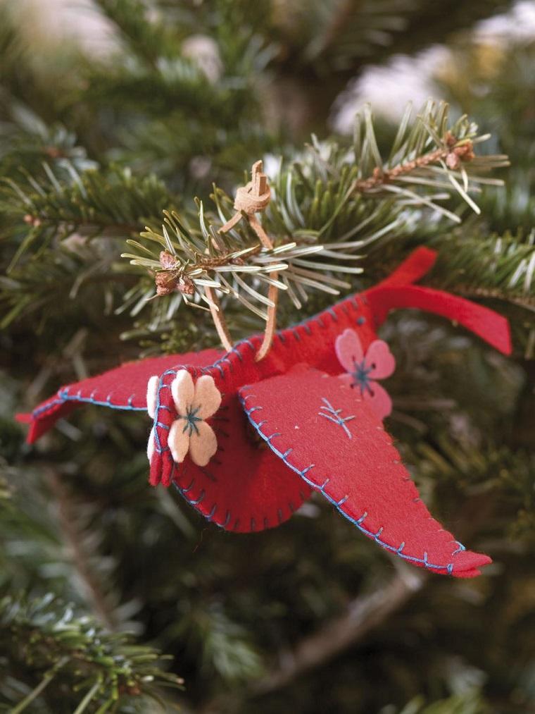 manualidades navidad originales pajaro rojo ideas