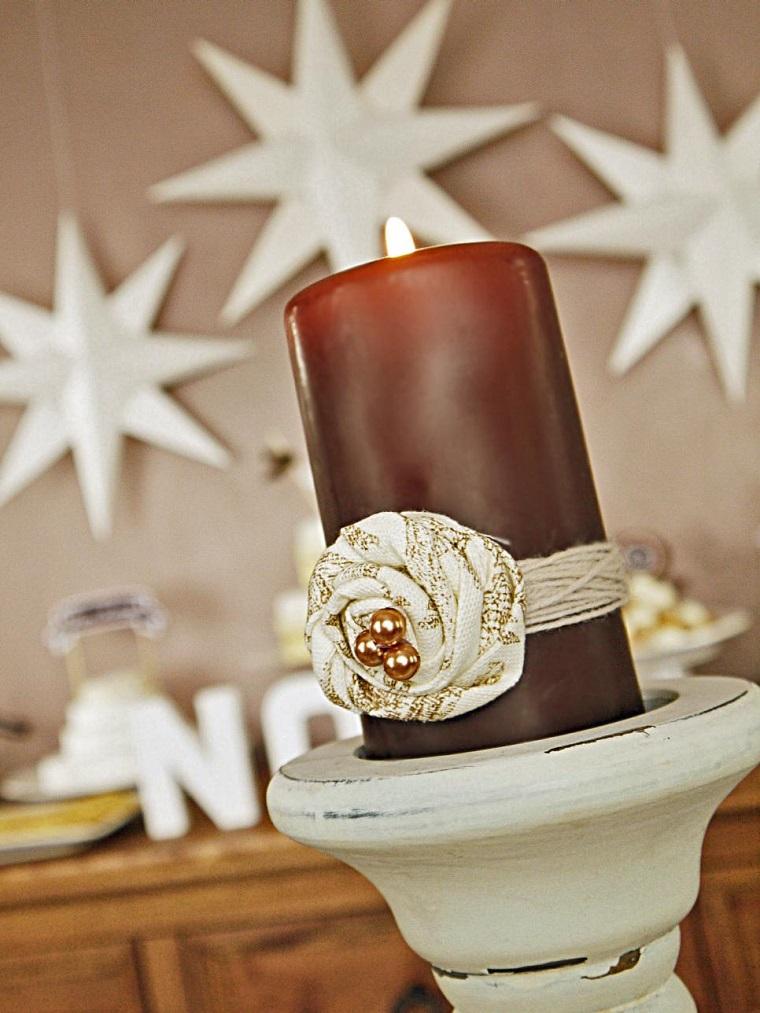 manualidades navidad originales vela navidad ideas
