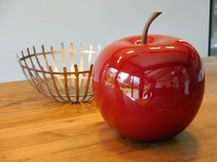 manzana decorativa roja brillante grande