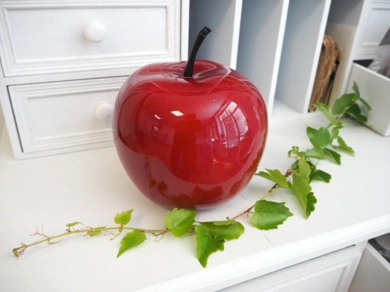 manzana falsa decorativa otoño
