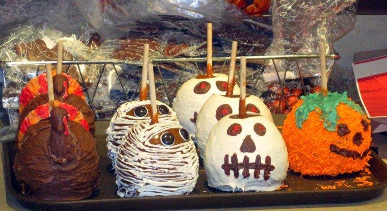 manzanas de caramelo halloween