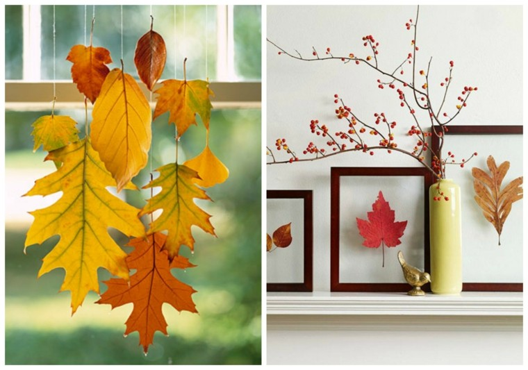 marcos fotos hojas secas arbol chimenea ideas