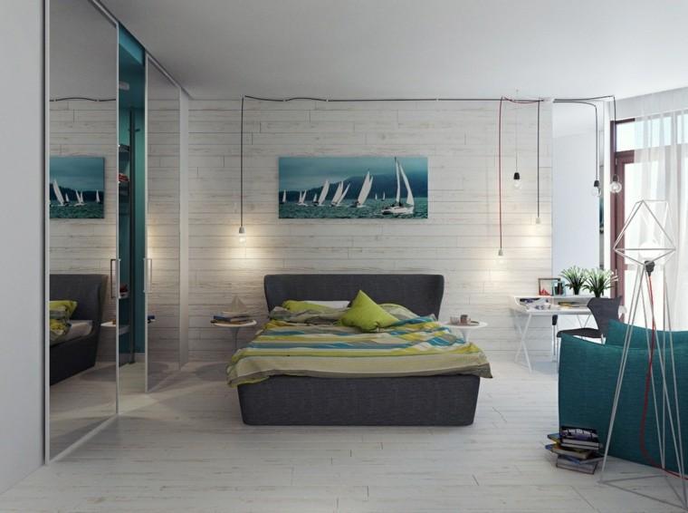 marino tema diseño paredes estilo ladrillos