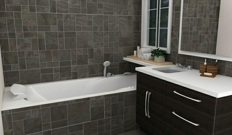 marron grisaceo azulejos de baño