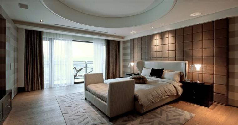 matrimonio estilo marron dormitorio blanco