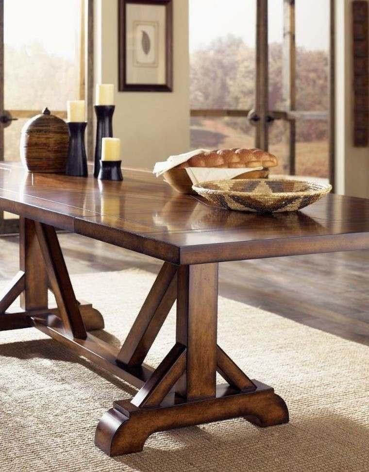 Mesa de caballete s lidas elegantes y de buen gusto - Mesa con caballetes ...
