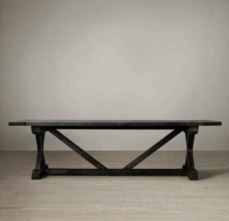 mesa caballete madera centro clasica