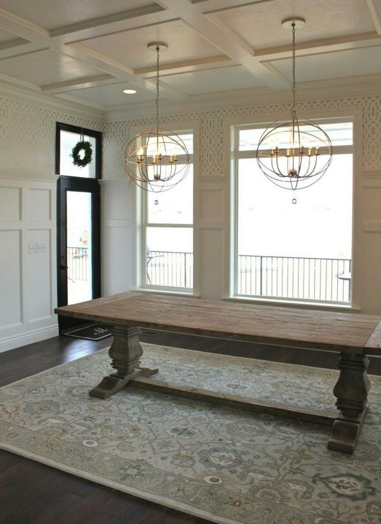mesa caballete trabajada madera clasica